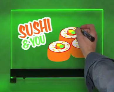 Photo tableau lumineux sushi